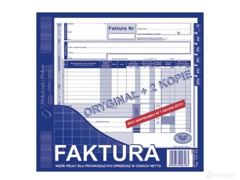 Druki Akcydensowe Papier Rolki Druki Faktura Vat Mipro 23 A4