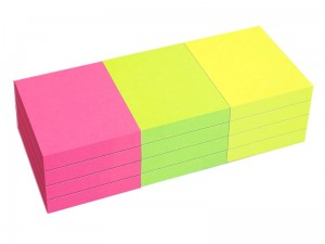 Notes samoprzylepny Tres 50x40mm Neon 12x 80k