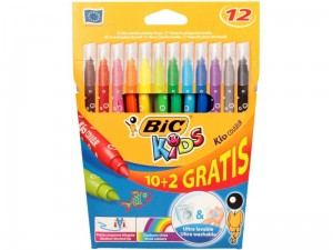 Flamastry pisaki Bic KID Couleur PD 10+2