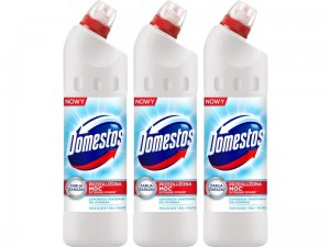 Płyn do WC Domestos 24h Plus Połysk 1250ml 3 sztuki