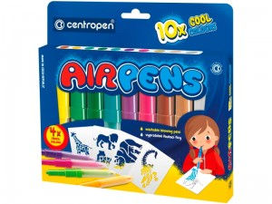 Dmuchane mazaki Centropen Airpens Cool Colours 10 + 4 szablony